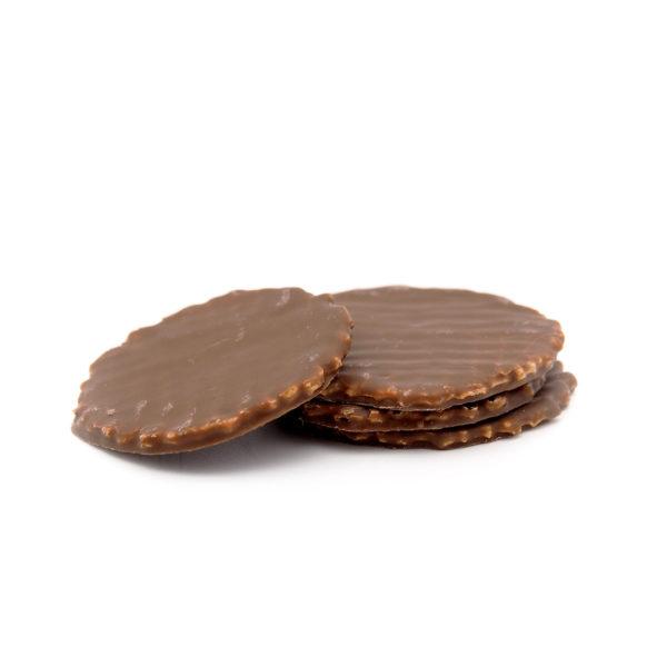 Dinkel Knusperwaffeln mit Vollmilch Schokolade