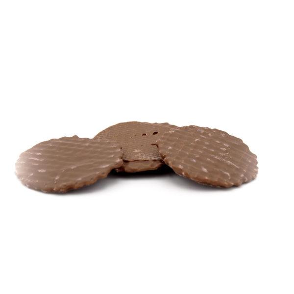 Dinkel Knusperwaffeln mit Kaffeepulver und Vollmilch Schokolade